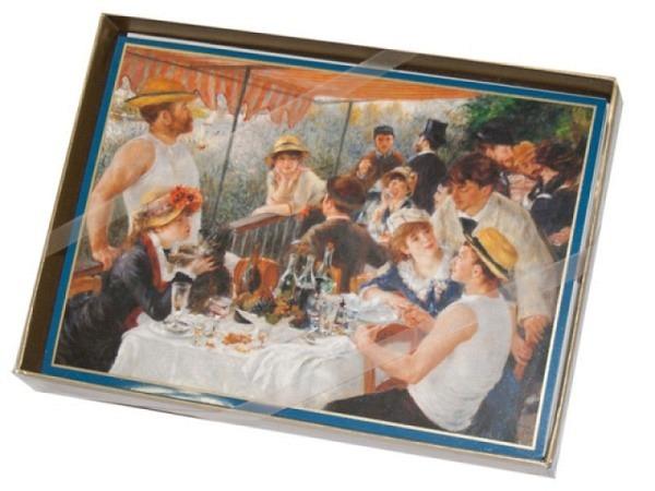 Karte Caspari 8er Set, Renoir, 10,5x14,8cm