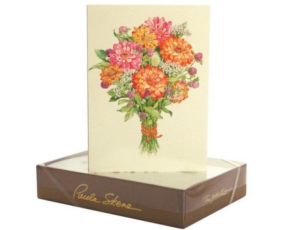 Karte Paula Skene Floral Bouquet 8er Set 12,5x17cm