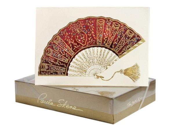 Karte Paula Skene Fancy Fan 8er Set 12,5x17cm