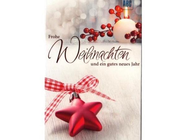 Weihnachtskarte ABC Apfel und Sterne
