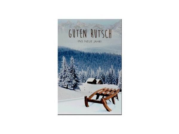 Neujahrskarte ABC Schneebilder