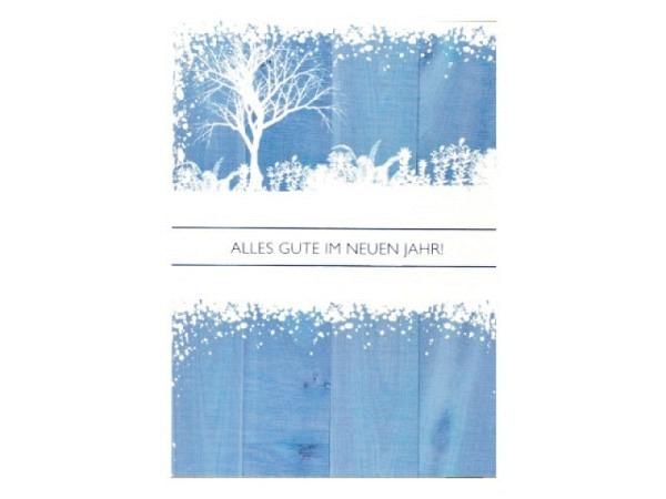 Neujahrskarte ABC grosse Tanne 5Stk