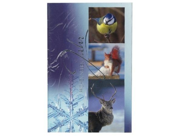 Neujahrskarte ABC Waldtiere 5Stk