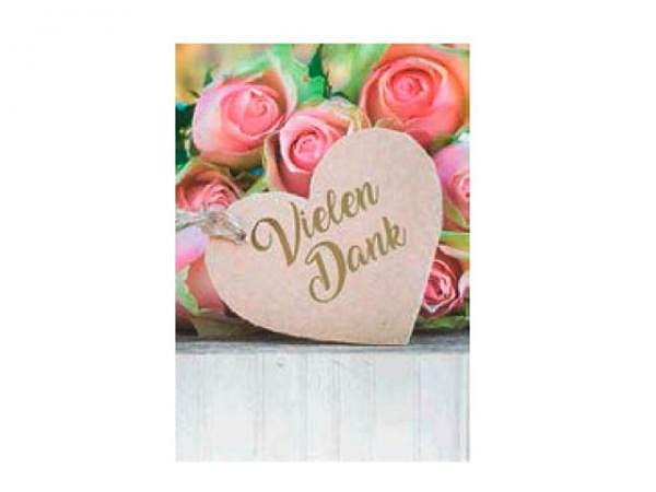 Dankeskarte AvanFlair bunte Blumen