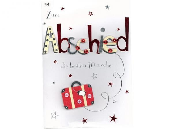 Abschiedskarte Avan More Koffer 11,1x16,5cm