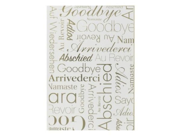 Abschiedskarte Art Bula Himmel