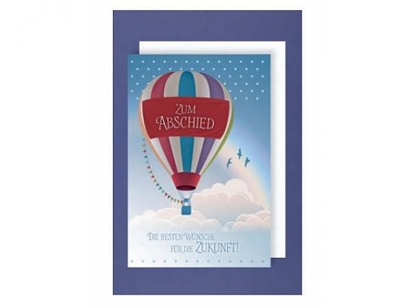 Abschiedskarte AvanStudio Heissluftballon