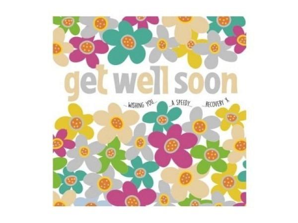 Genesungskarte AvanFlair Gute Besserung komm schnell wieder auf die Beine, weisse Doppelkarte mit ei