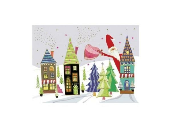 Postkarte Turnowsky Weihnachten Haus
