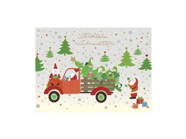 Postkarte Turnowsky Weihnachten Nikolaus mit Stern
