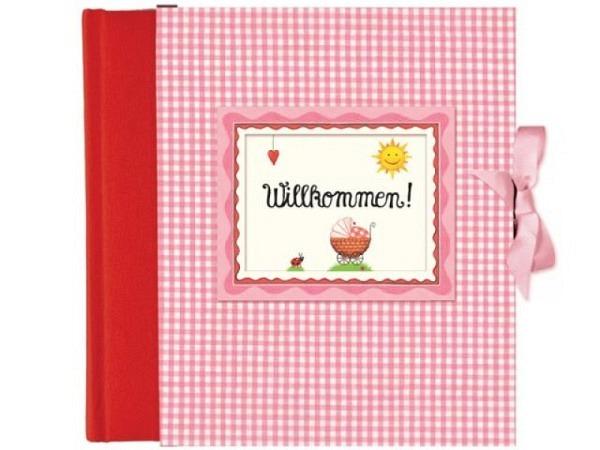 Fotoalbum Coppenrath Willkommen rosa Babyalbum