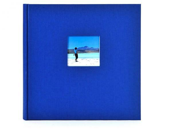 Fotoalbum Goldbuch Bella Vista gebunden blau Leinen