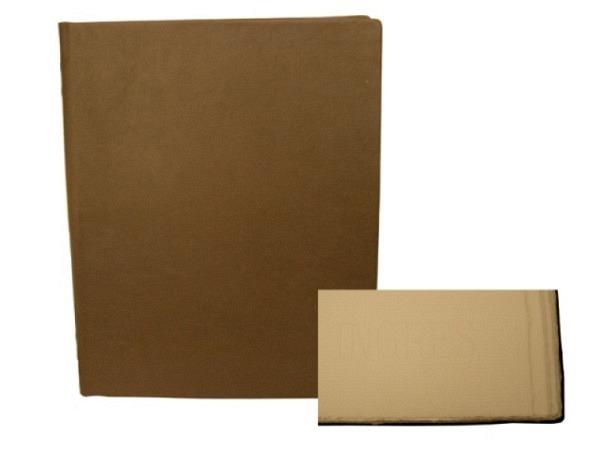 Gästebuch ASL Vollrindleder braun, Serie Royal, weisses Büttenpapier, 29x32cm
