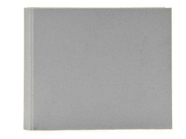Gästebuch Goldbuch Linum grau 29x23cm mit 50 weissen Seiten 210g/qm, mit verdeckter Spiralbindung, in Kartonumband mit Leinenbezug, Silberprägung Gäste
