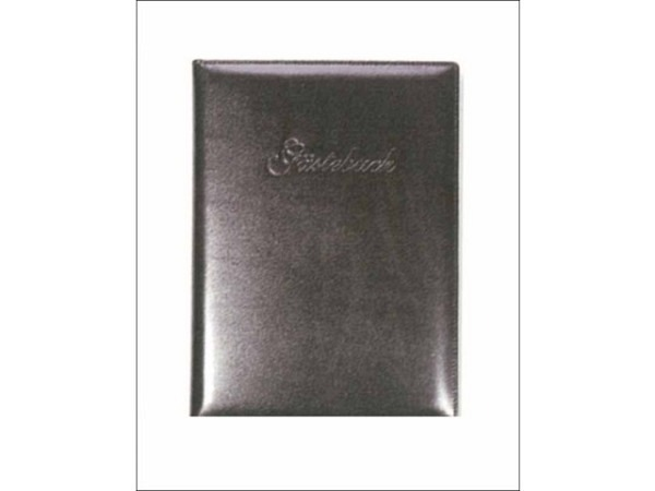 Gästebuch ASL Rindleder Rustico braun genarbt 21x30 cm. 144 Blatt naturweiss unliniert, mit Prägung