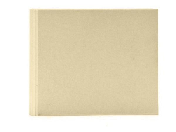 Gästebuch Goldbuch Linum beige 29x23cm mit 50 weissen Seiten 210g/qm, mit verdeckter Spiralbindung,