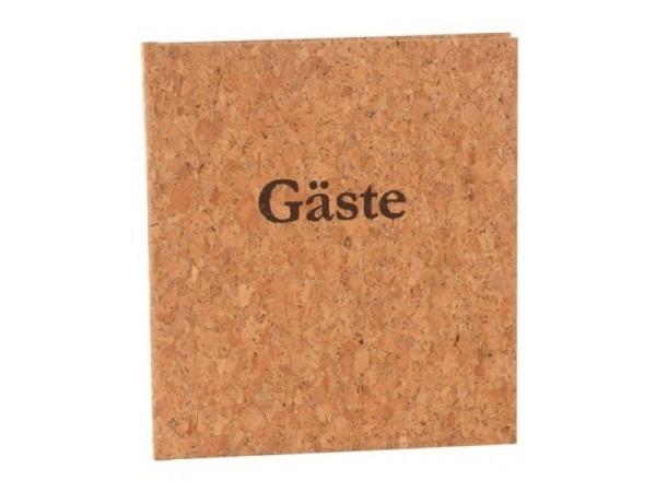 Gästebuch Goldbuch Kork 23x25cm