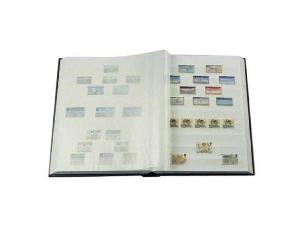 Briefmarkenalbum Leuchtturm Basic W32 23x30,5cm blau