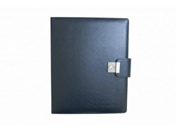 Dokumentenmappe ASL Syntetik A4 Vario schwarz mit 4-Ringm., Seitenfach, Inhaltsverzeichnis, 5 Zeig
