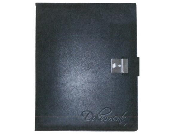 Dokumentenmappe ASL Meriva schwarz A4, aus vollnarbigem schwarzem Leder, mit Schloss, inwendig mit 4-Ring Mechanik, inkl. 5 übergrossen Taschen mit seitlichem Klappenverschluss für Zeugnisse, Dokumente etc. Mit Blindprägung Dokumente auf dem Vorderde..