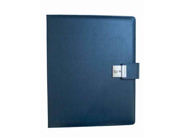 Dokumentenmappe Alcoraleder blau A4 Bergamo