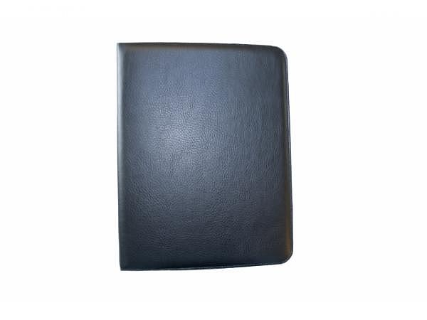 Konferenzmappe ASL Matrix schwarz aus genarbtem Kunstleder, mit fixer 4-Ring Mechanik, Platz für 3 V