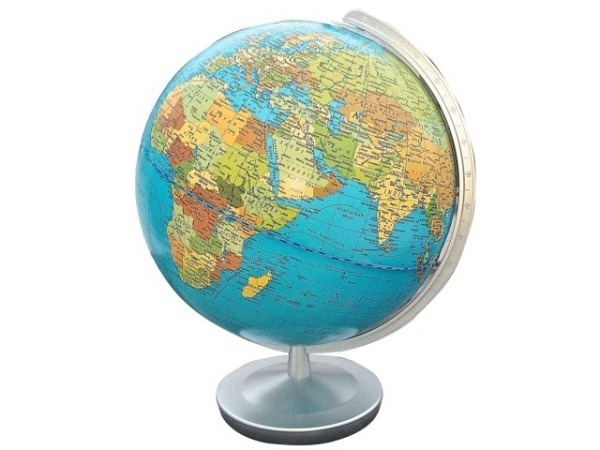 Globus Columbus Terra 30cm Durchmesser Akrylglaskugel