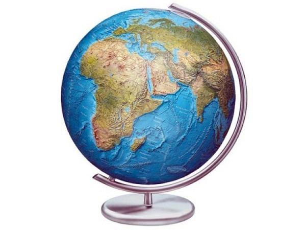 Globus Columbus Duorama 40cm Edelstahl, Kristallglaskugel