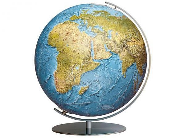 Globus Columbus Duorama 34cm Edelstahl-Fuss, Akrylglaskugel
