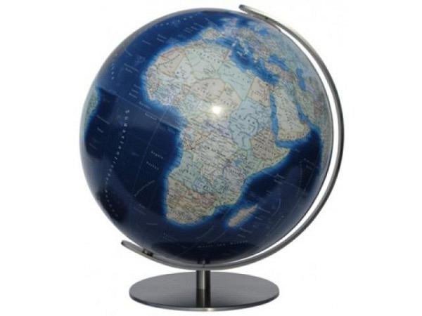 Globus Columbus Duo Azzurro Durchmesser 34cm Edelstahl-Fuss