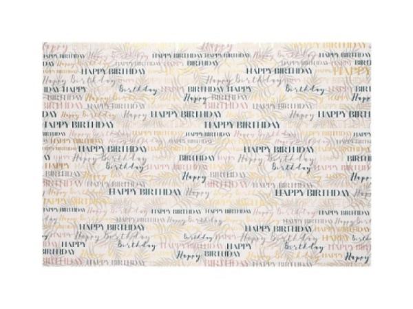 Geschenkpapier Artebene Happy Birthday Vintage 70x100cm