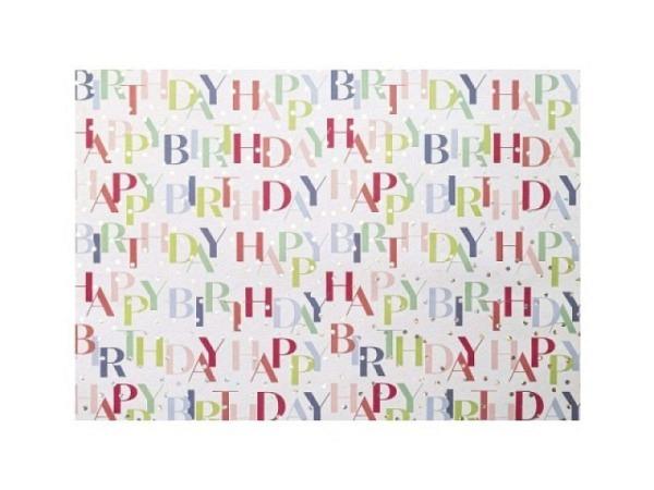 Geschenkpapier Artebene Happy Birthday Hologramm 70cmx1,5m