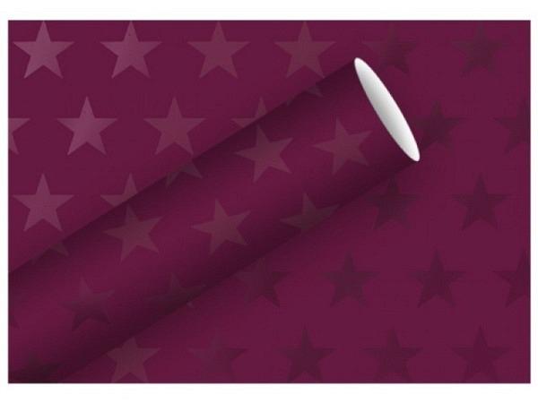 Geschenkpapier Braun Company Stars kupfer