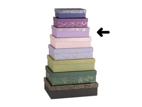 Geschenkschachtel Artebene Finest Dots rosa<br>