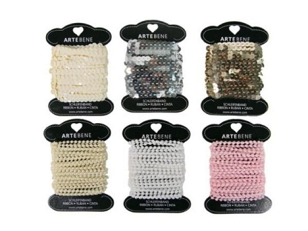 Geschenkband Artebene Paillettenband oder Perlenband