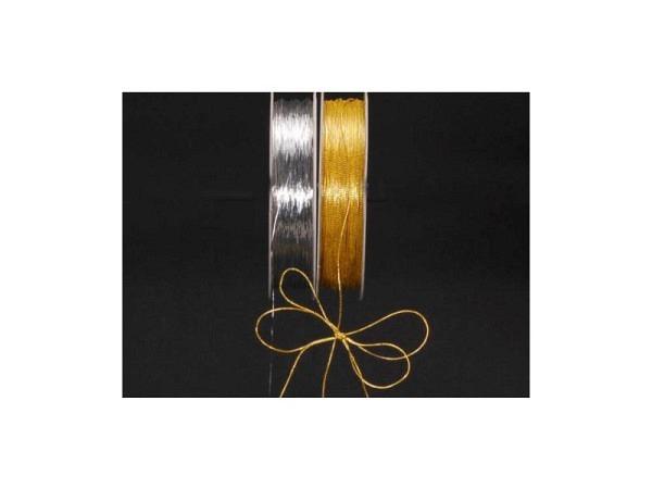 Geschenkband Cubino Fino gold Metallfaden 0,5mmx25m, auf Spuhle