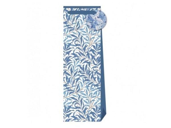 Flaschentasche Stewo Belle weiss mit goldenen Tannenbäumen