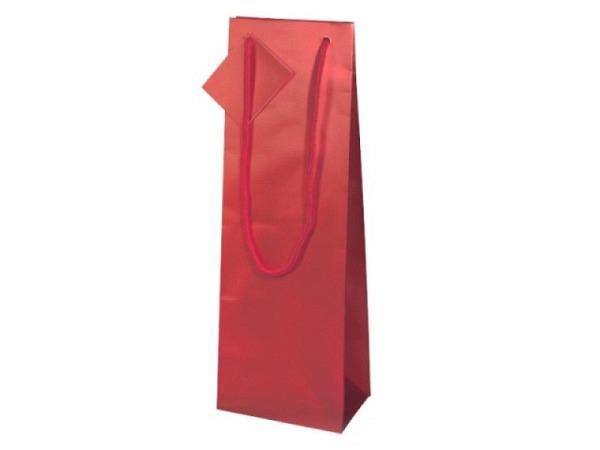 Flaschentasche Stewo Benjamin 12x37x8cm, weisser Hintergrund mit fantasievollen Weihnachtsmotiven au