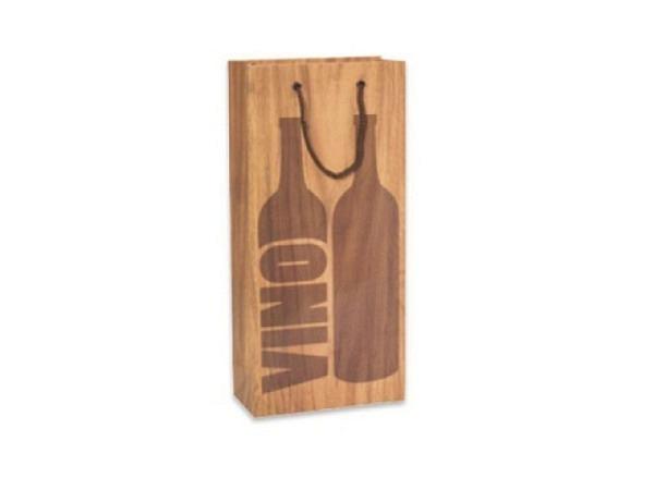 Flaschentasche Stewo Botella braun Doppeltasche 18x10,5x36cm, bietet Platz für 2 Weinflaschen, bedru