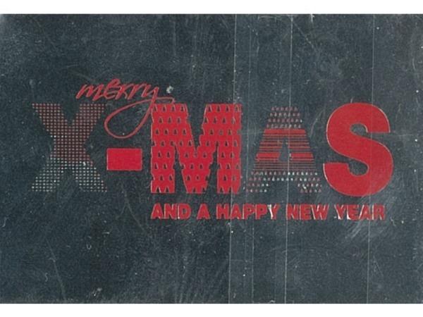 Geschenksanhänger Borer Merry X-Mas silber 3er Set