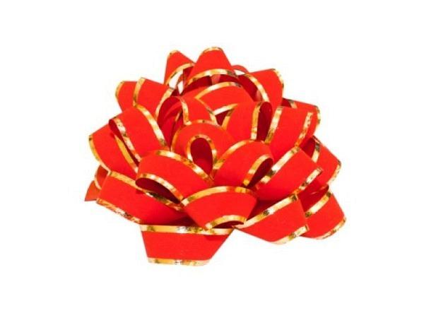 Geschenkmaschen Präsent Linea rot matt, glänzenden Rändern