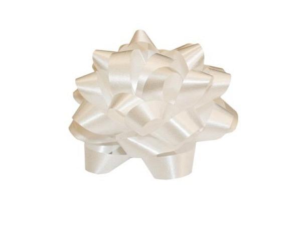 Geschenkmaschen Präsent Bows white farbig assortiert