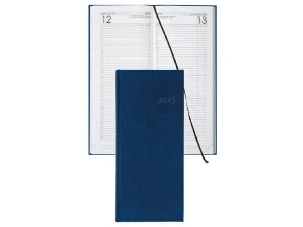 Agenda Biella Budget lang 13,5x33cm, 1 Tag auf 1 Seite blau