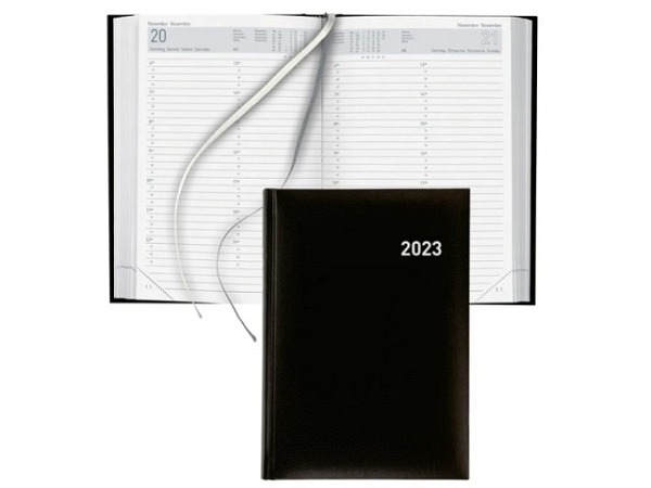 Agenda Biella Manager A5 1 Tag auf 1 Seite, schwarz