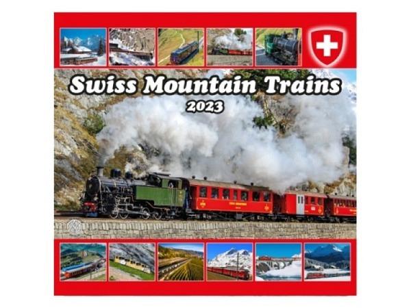 Kalender Swiss Mountain Trains Schweizer Züge 2018, 24x23cm