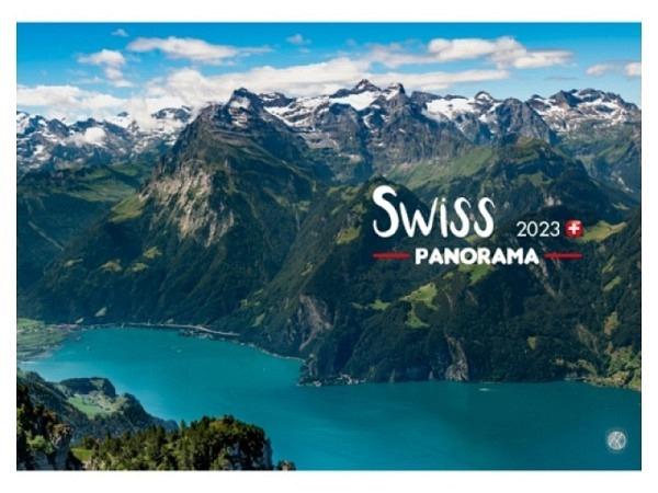 Kalender Swiss Panorama 2018, 34x24cm, aufgeklappt 34x48cm