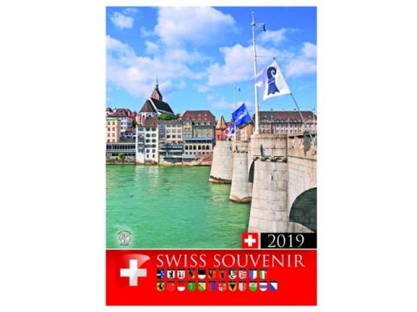 Kalender Swiss Souvenir Titelblatt Zürich 2018, 16x21cm
