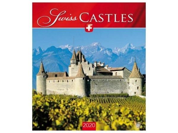 Kalender Swiss Castles 2018, 30x34cm, Bildkalender
