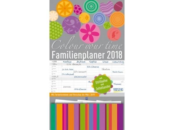Familienplaner Korsch Colour your time 2017