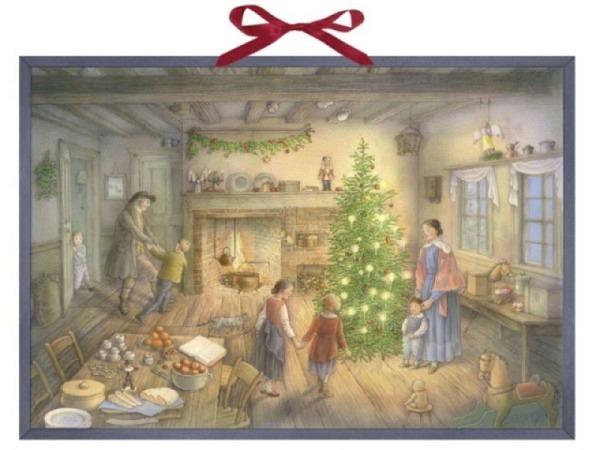 Adventskalender am Weihnachtsabend, 38x52cm